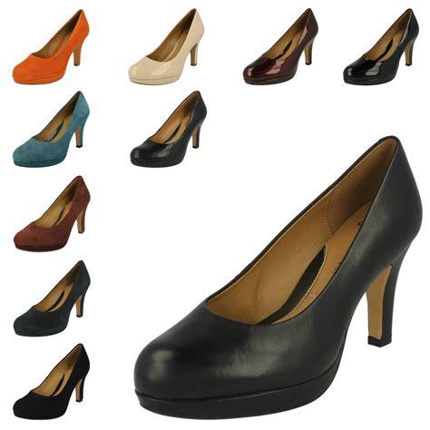 Clars High clarks high heel softwear court shoes anika kendra ebay