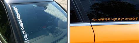 Autoaufkleber Selber Machen österreich by Autoaufkleber Selbst Gestalten Wunschtext Sticker Online
