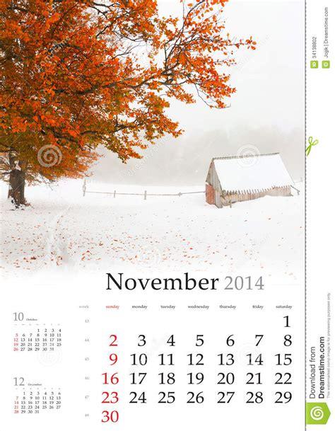 house beautiful editorial calendar 2014 calendar november stock photography image 34138802