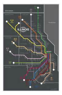 Map Of Chicago Metra by Chicago Metra Map Poster Yeah Chicago