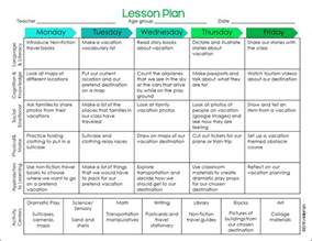 preschool ponderings vacation lesson plan