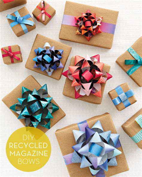 How To Make A Bow From Wrapping Paper - how to make diy gift bows from recycled magazines wantist