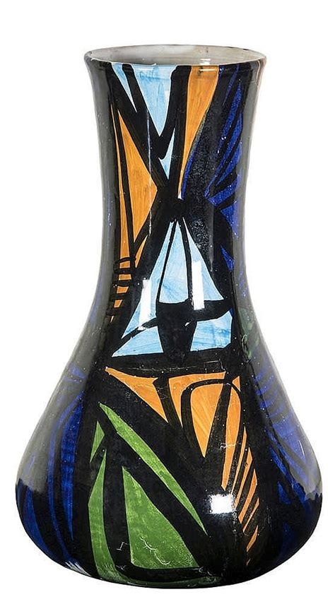 Abstract Vases by Wladimiro Tulli Vase With Abstract Decoration 1963