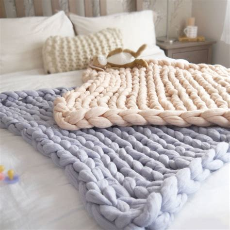 how to knit chunky blanket chunky knit baby blanket by aston