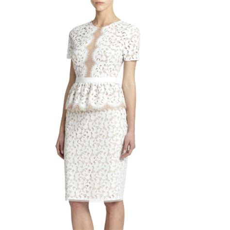 White Lace Skirt And Blouse by Lace Blouse And Skirt Clothing