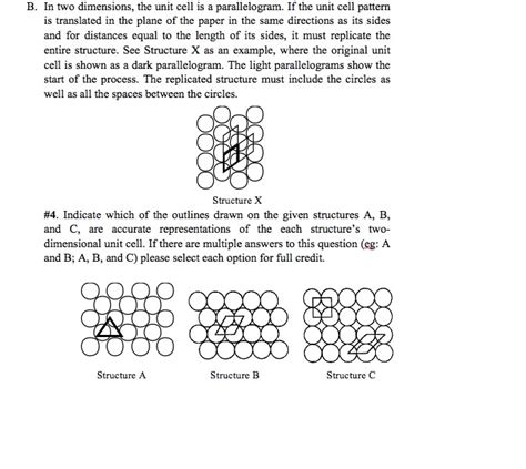 unit cell pattern solved in two dimensions the unit cell is a parallelogra