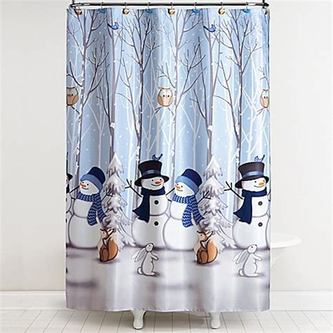winter shower curtains saturday knight winter friends shower curtain with hooks