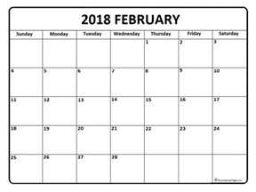Calendar 2018 February Printable February 2018 Calendar February 2018 Calendar Printable