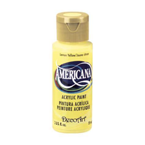 acrylic paint lemon yellow deco 2 oz americana lemon yellow acrylic paint
