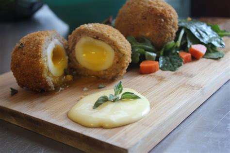 Handmade Scotch Eggs - scotch egg and aioli itsviraltoday