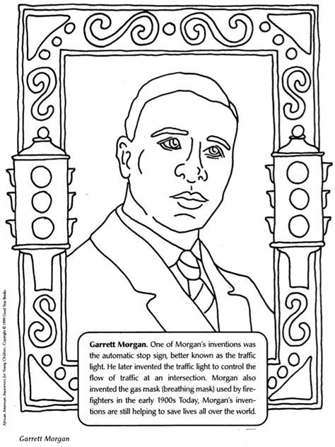 A Picture Of Garrett Morgan Coloring Coloring Pages Black History Coloring Pages