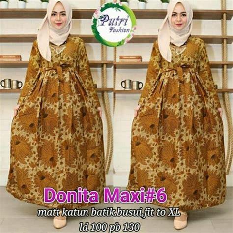 Bahan Katun Batik 12 63 model baju gamis batik terbaru 2018 kombinasi modern