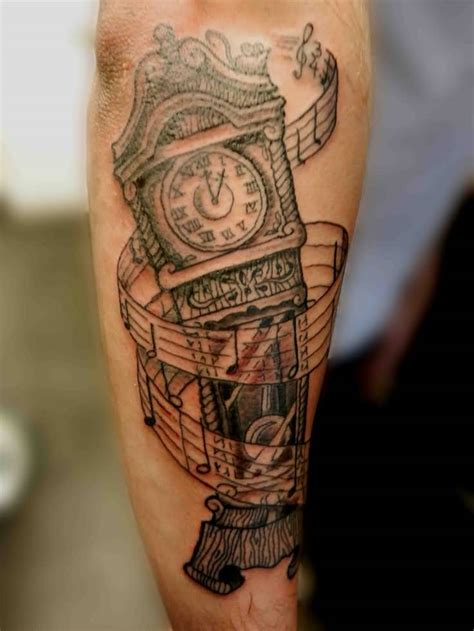 grandfather clock tattoo 37 unique grandfather clock tattoos