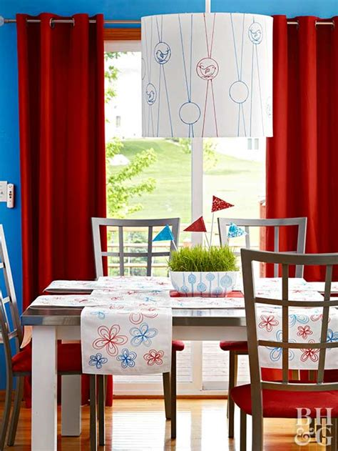 red and blue home decor show your red white blue