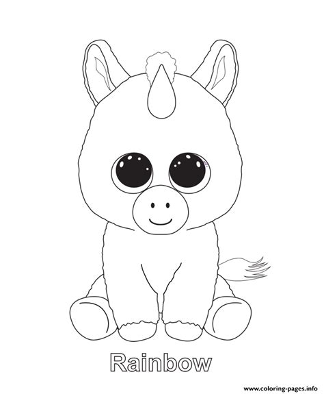 coloring boo rainbow beanie boo coloring pages printable