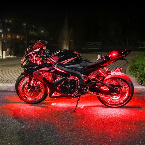 lightweight motorcycle premium 10 compact pod 4 flexible strip accent light
