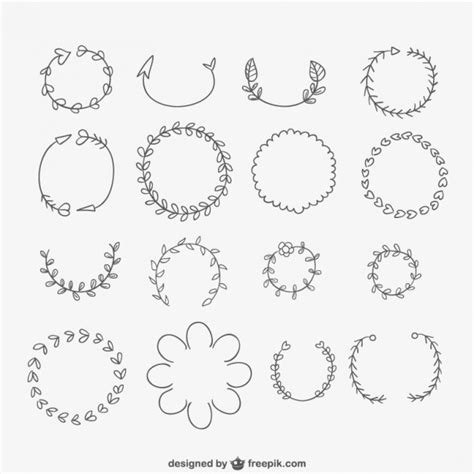 hand drawn vector tutorial hand drawn wreaths vector free download