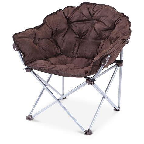 mac sports 174 padded foldable club chair chocolate