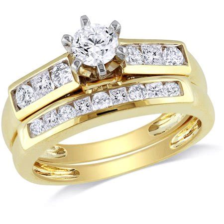 miabella 1 carat t.w. round and princess cut diamond