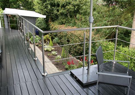 geländer terrasse glas altan terrasse