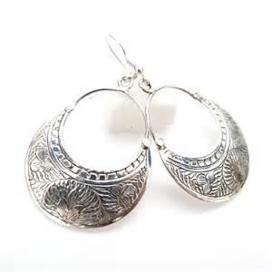 boucle d oreille en argent cisel 233 vente de bijoux en