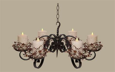 Non Electric Chandelier Modern Interior Design Non Electric Pillar Wrought Iron Candle Chandeliers Design