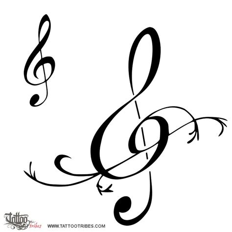 music clef tattoo treble clef of treble clef harmony custom
