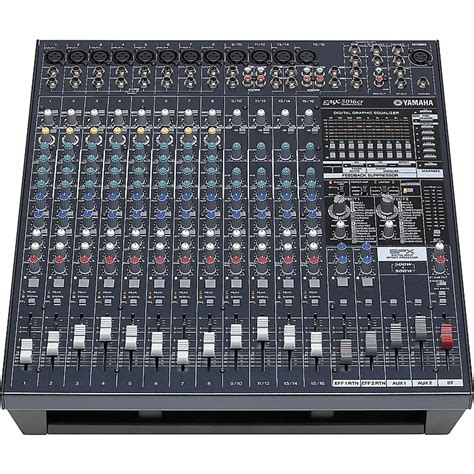 yamaha emx5016cf 16 input powered mixer with dual 500 watt power s musician s friend