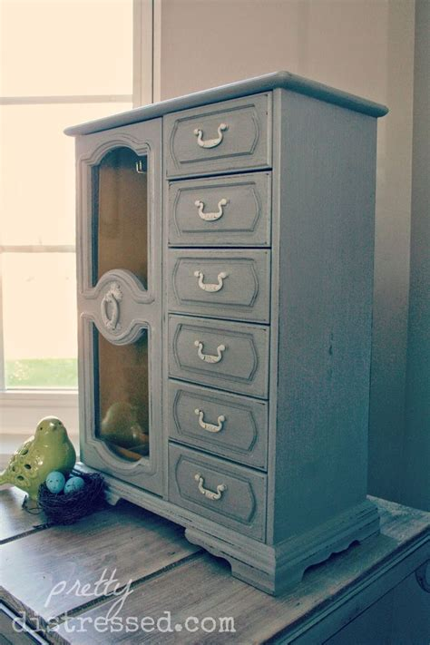 Jewelry Armoire Makeover by Jewelry Box Refinished With Chalk Paint 174 By Sloan In