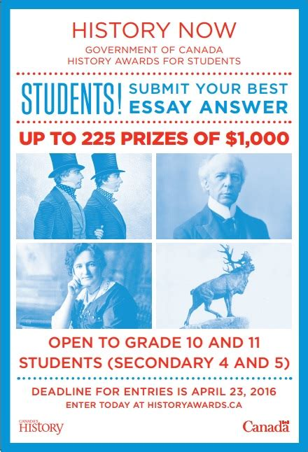 Essay Contests 2016 Canada by Student Essay Contests Canada