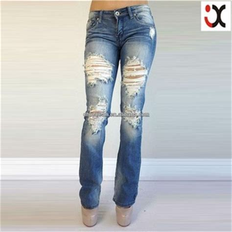 Boot Cut Ripped womens ripped bootcut ye jean