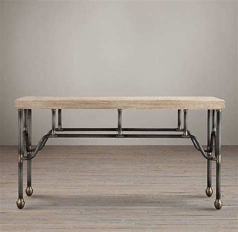 Restoration Hardware Console Table Bistro Pipefitter S Table Furniture