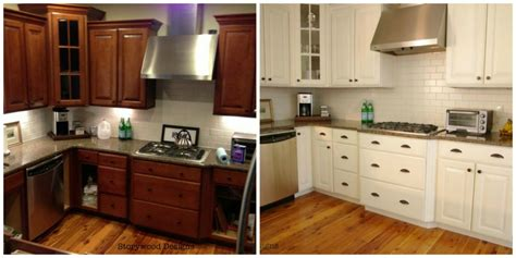painted kitchen cabinets ideas before and after storywood designs ascp chalk paint kitchen cabinets before