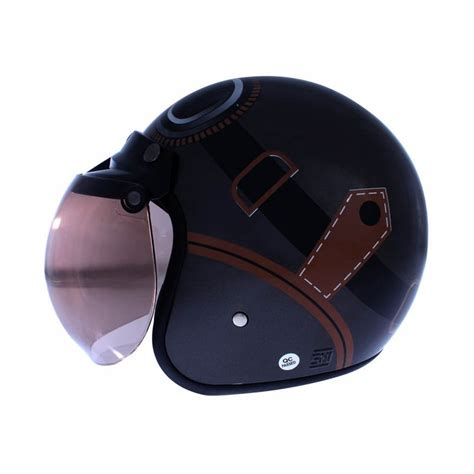 Helm Bogo Untuk Wanita jual wto helmet retro bogo kacamata abu abu cokelat helm half harga kualitas