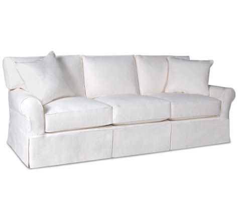 slipcovered sleeper sofas sleeper sofa slipcover full harlan sofa living room