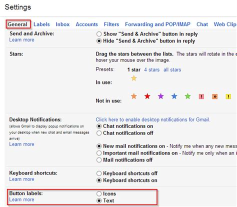gmail reset labels how to change gmail button icons to text i have a pc
