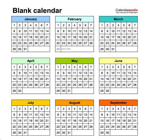 blank calendar wonderfully printable  templates