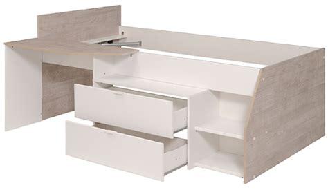 Exceptionnel Lit Sureleve Avec Bureau #3: chambres-enfants-milky-gris-loft-blanc-l-135-x-h-90-x-p-203.jpg
