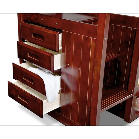 bunk beds with stairs and drawers ranger twin over twin bunk bed with storage stairs