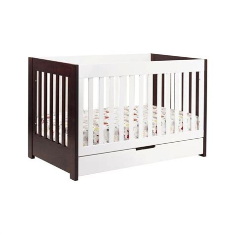 White And Wood Crib Babyletto Mercer 3 1 Convertible Wood Two Tone Espresso