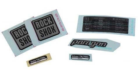 Rock Shox Aufkleber Gold by Rock Shox Federgabel Aufkleber Decals G 252 Nstig Kaufen