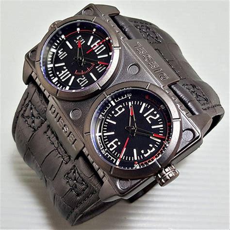 jual jam tangan pria diesel jumbo leather black