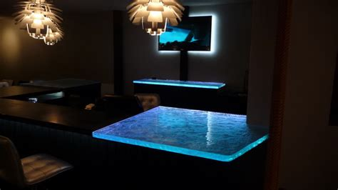 lighted bar tops inspired led color changing rgb illuminated glass counter