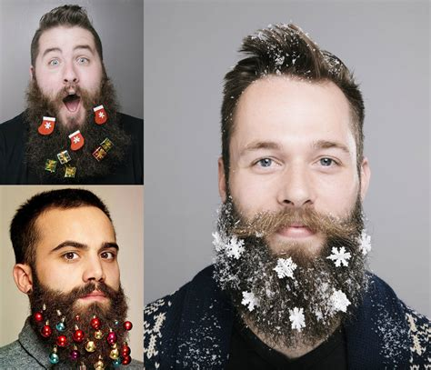 hairstyles 2017 christmas funny christmas beard decoration men s hairstyles