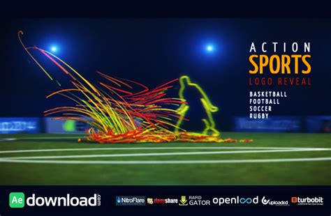 templates after effects sport action sports opener free download videohive template