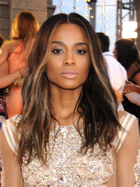 color and highlights for african american women ciara s vma 2013 ombre red carpet hair pinterest