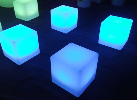 Home Design Stores Atlanta by Led Furniture Hire London Uk Cube Blue Cubes Idolza
