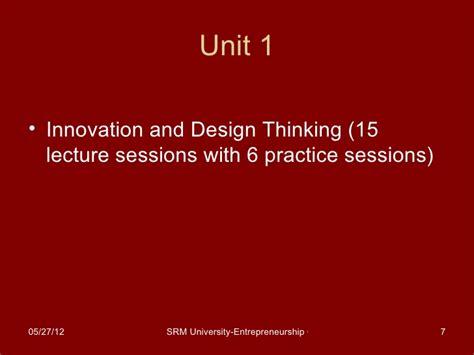 design thinking entrepreneurship entrepreneurship