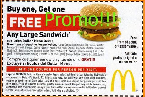 Promo 5 Free 1 printable coupons 2016 mcdonalds coupons