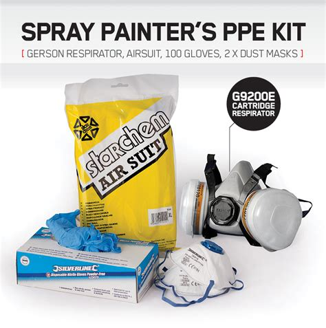 spray painter ppe spray painting ppe kit gerson mask dust masks nitrile